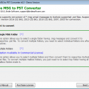 MSG to PST Converter screenshot