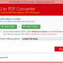 Convert Outlook MSG Files to PDF screenshot