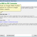 MSG Files to PST Converter Tool screenshot