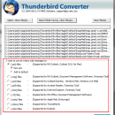 Thunderbird to Outlook Converter screenshot