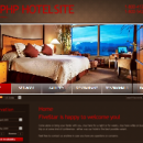 X-Brown Template for ApPHP Hotel Site screenshot