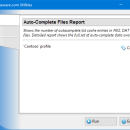 Auto-Complete Files Report for Outlook screenshot