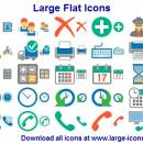 Large Flat Icons screenshot