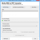 Change Outlook MSG to PDF screenshot