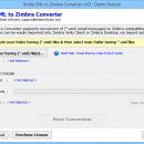 Convert Multiple EML emails to Zimbra screenshot