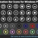 Application Bar Icons for Windows Phone screenshot