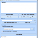 Add MP3 Files To Multiple AVI Files Software screenshot