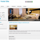 X-White Template for ApPHP Hotel Site screenshot