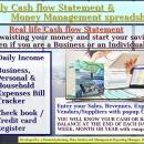 Daily Cash flow Statement spreadsheet screenshot