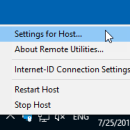 Remote Utilities Host screenshot